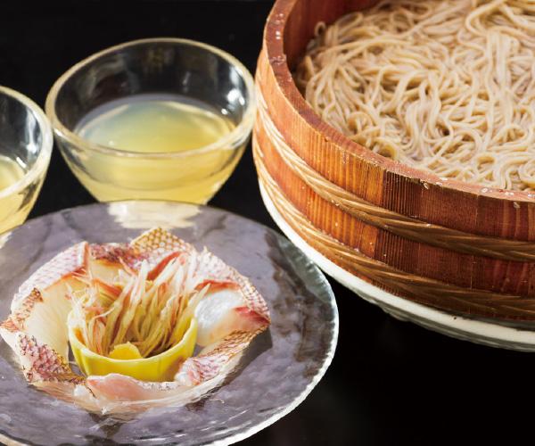 季節のメニュー 炙り鯛付流氷常陸秋蕎麦