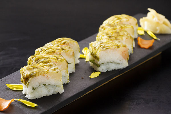 蟹と海老の押し寿司 茨城 水戸 梅み月 グランドメニュー