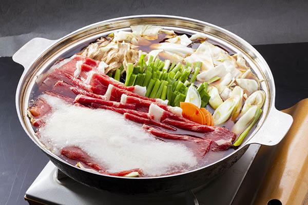 とろろ牛すき焼き鍋 茨城 水戸 梅み月 グランドメニュー