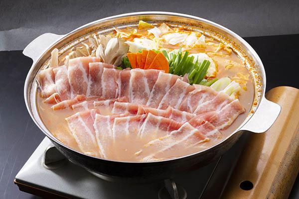 濃厚味噌バター豚鍋 茨城 水戸 梅み月 グランドメニュー